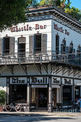 Bull And Whistle Key West  Art Print