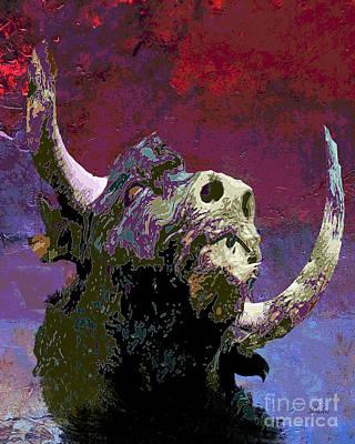 Bullfight Digital Art - Bull by Dalon Ryan