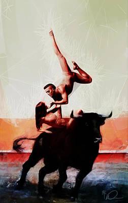Bullfight Digital Art - Bull Dancers by David Derr