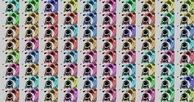 Puppy Mixed Media - Bulldog Pop Art Collage by Dan Sproul