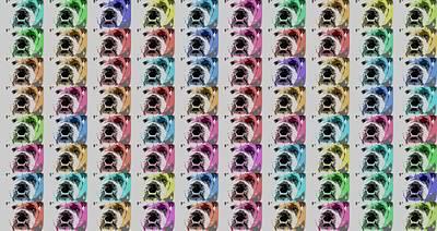 Bull Mixed Media - Bulldog Pop Art Collage by Dan Sproul