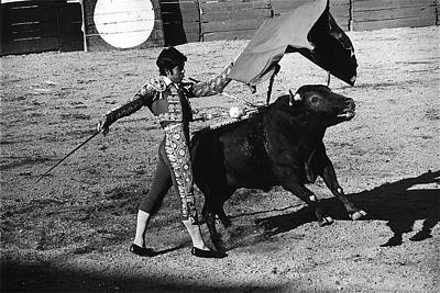 Modern Man Rap Music - Bull Fight Matador Charging Bull US-Mexico Mexico Border Town Nogales Sonora Mexico   1978-2012  by David Lee Guss