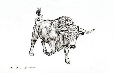 Bull Art Print by Kurt Tessmann