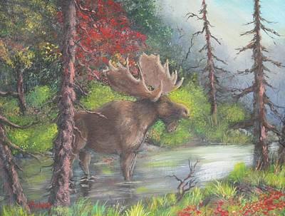 Bull Moose Art Print