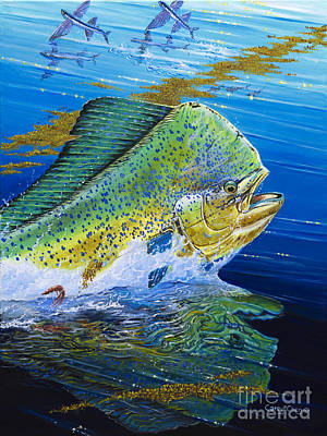 Striped Marlin Painting - Bull Reflection Off0032 by Carey Chen