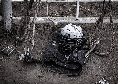 Photograph - Bull Riders Protection by Amber Kresge