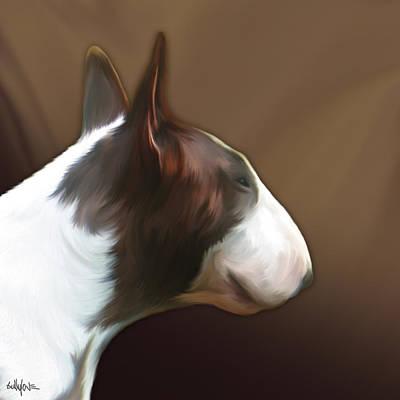 Bull Terrier Digital Art - Bull Terrier By Bullylove by Bullylove DE