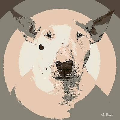Painting - Bull Terrier Graphic 1 by George Pedro