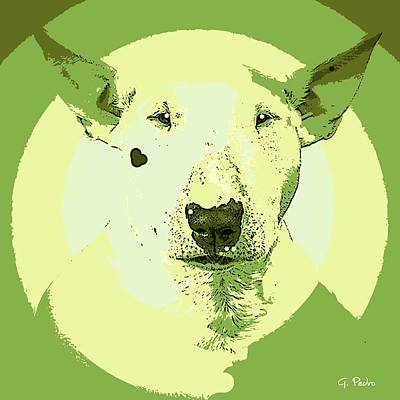 Painting - Bull Terrier Graphic 2 by George Pedro