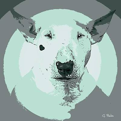 Painting - Bull Terrier Graphic 3 by George Pedro