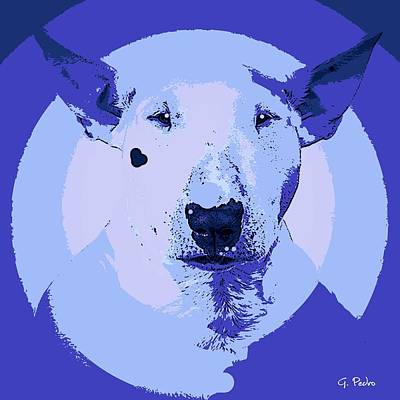 Painting - Bull Terrier Graphic 4 by George Pedro