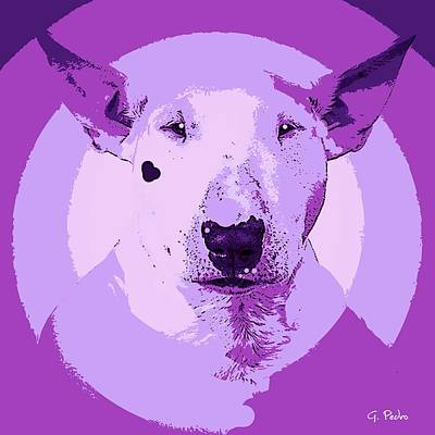 Painting - Bull Terrier Graphic 5 by George Pedro