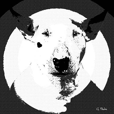 Painting - Bull Terrier Graphic 6 by George Pedro
