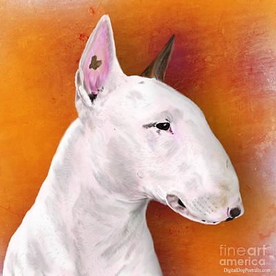 Purebred Digital Art - Bull Terrier by Idan  Badishi