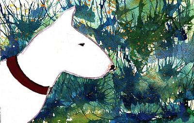 English Bull Terrier Painting - Bull Terrier by Katie White