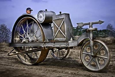 Keck Photograph - Bull Tractor by F Leblanc