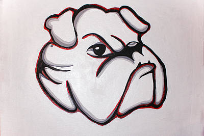 Georgia Bulldog Painting - Bulldawg by Brandy Nicole Neal