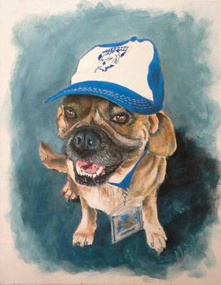 Footie Painting - Bulldog by Almeta LENNON