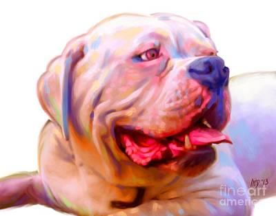 Buy Dog Art Digital Art - Bulldog Art by Iain McDonald