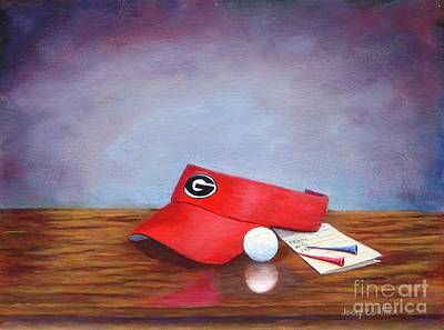 Painting - Bulldog Golf by Jerry Walker