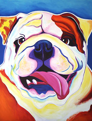 Dawgart Painting - Bulldog - Grin by Alicia VanNoy Call