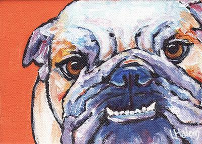 English Bulldog Painting - Bulldog by Greg and Linda Halom