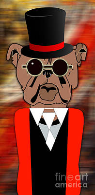 Dog Mixed Media - Bulldog by Marvin Blaine