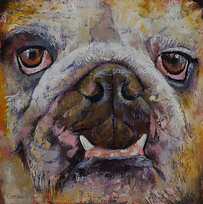 Bulldog Oil Painting - Bulldog by Michael Creese