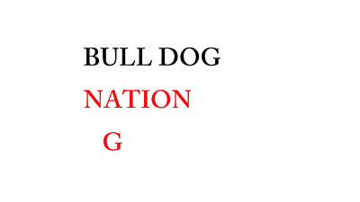 Bulldog Nation Art Print by Aaron Martens