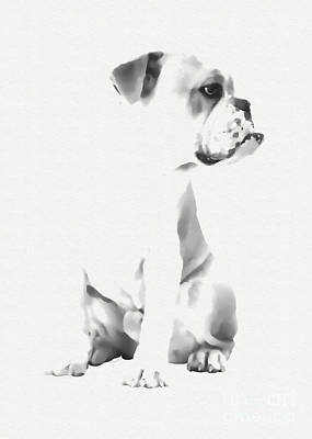 Bulldog Art Print by Olga Hamilton