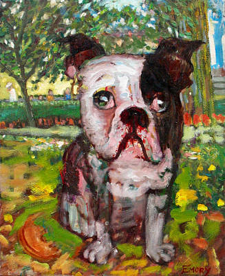 Painting - Bulldog by Paul Emory