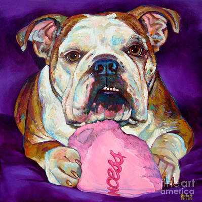 Art Print featuring the painting Bulldog Princess by Robert Phelps