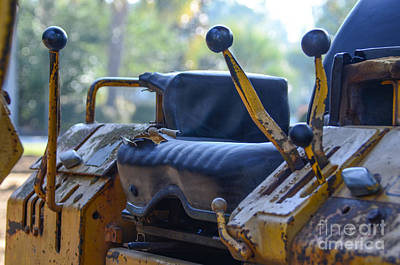 Photograph - Bulldozer Controls by Dale Powell