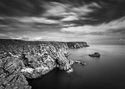 Bullers Of Buchan Cliffs Art Print by Dave Bowman
