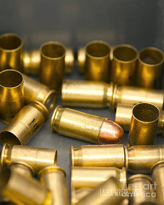 Laura Wrede Photograph - Bullet Art 3 by Artist and Photographer Laura Wrede