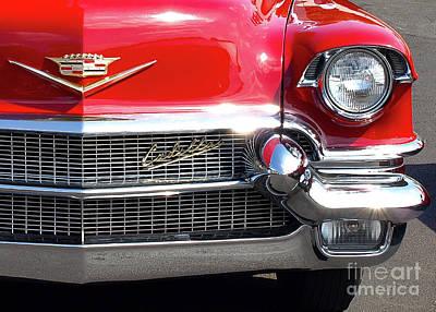 Photograph - Bullet Bumpers - 1956 Cadillac by John Waclo