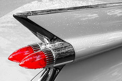 Caddy Photograph - Bullet Tail Lights by Jim Hughes