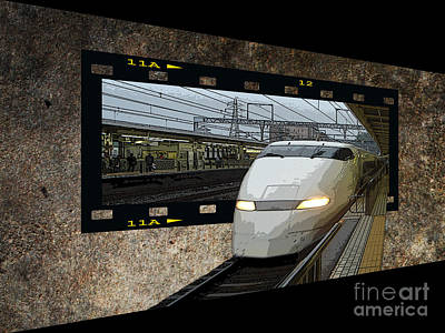 Digital Art - Bullet Train Oof by Yvonne Johnstone