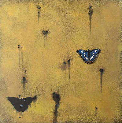 Painting - Bullets And Butterflys by Darren Mulvenna