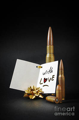 Ammo Photograph - Bullets For You by Carlos Caetano