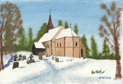 Bulley Church Art Print by John Williams