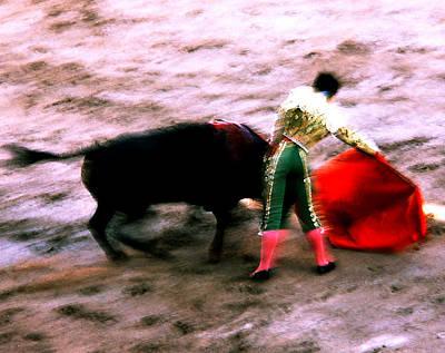 Photograph - Bullfight - Artist's Shot by Robert  Rodvik