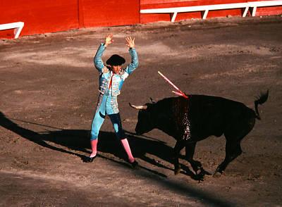 Photograph - Bullfight - Bandillero In Aqua by Robert  Rodvik