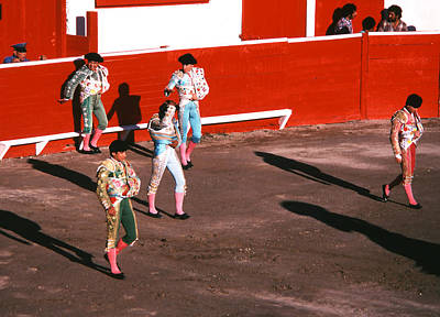 Photograph - Bullfight - Entering The Ring by Robert  Rodvik
