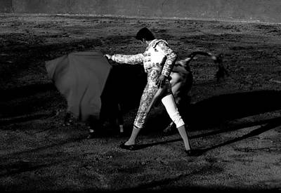 Photograph - Bullfight In Mijas Spain Black/white by Jacqueline M Lewis