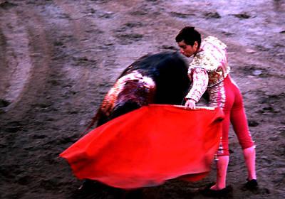 Photograph - Bullfight - Matador In Red by Robert  Rodvik