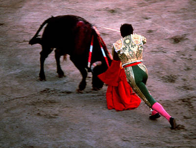 Photograph - Bullfight - Moment Of Truth by Robert  Rodvik