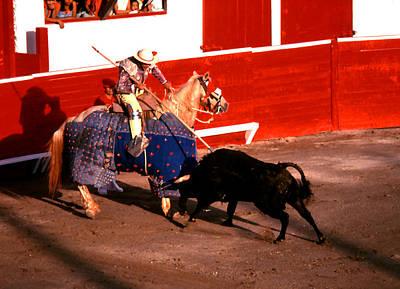 Photograph - Bullfight - Picador Astride Horse by Robert  Rodvik