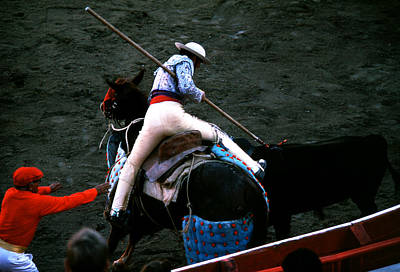 Photograph - Bullfight - Picador Digs In by Robert  Rodvik
