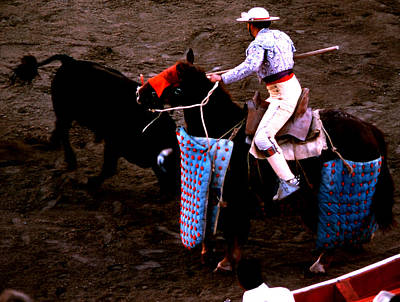 Photograph - Bullfight - Picador On Horse by Robert  Rodvik
